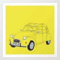 Citroën 2CV Art Print