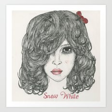 Snow White ♡ Art Print