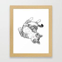 Petoux the Cat, White Framed Art Print