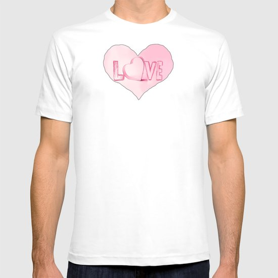 Love's Heart - Pink T-shirt