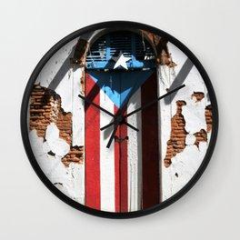 Puerto Rico Flag  ,boricua pride Wall Clock
