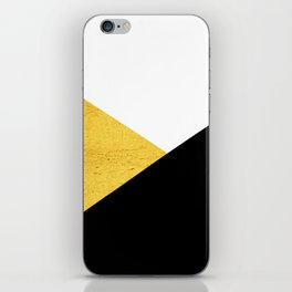 Gold & Black Geometry iPhone Skin
