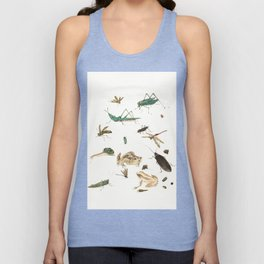 Insects, frogs and a snail Unisex Tank Top