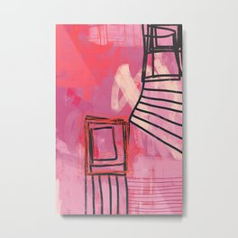 pinch me - abstract painting Metal Print