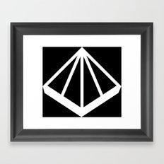 OMD Symbol Reversed Framed Art Print