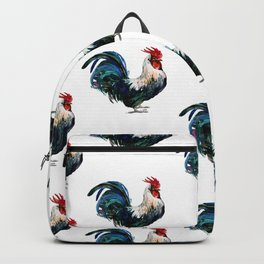 Rooster Decor, Beautiful Rooster French country style design artwork, kitchen Backpack