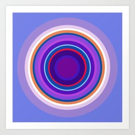 Mod Circles in Periwinkle and Purple Art Print