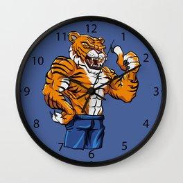 Tiger Fighter Mascot  Wall Clock