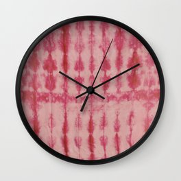 Red Pleated Dyed Wall Clock