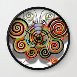 Psychotronic moth Wall Clock