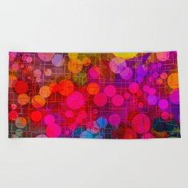 Rainbow Bubbles Abstract Design Beach Towel