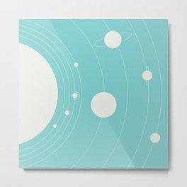 Orbit, blue Metal Print