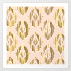 Minimalist gold and pink mosaic Art Print