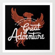 Great Adventure Art Print