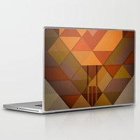hot air balloon Laptop & iPad Skins featuring Hot Air Balloon Abstract by Alyn Spiller