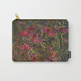 Zinnia Pink Abstract by CheyAnne Sexton Carry-All Pouch