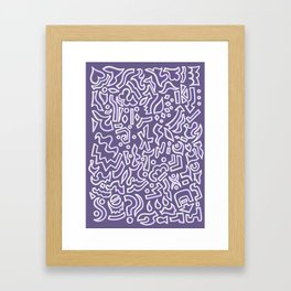 Purple with a splash of grey Framed Art Print