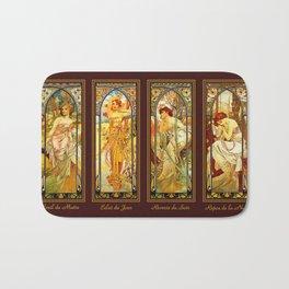 Vintage Art Nouveau - Alphonse Mucha Bath Mat