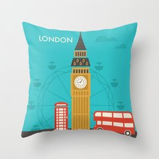 Attractions of London Throw Pillow