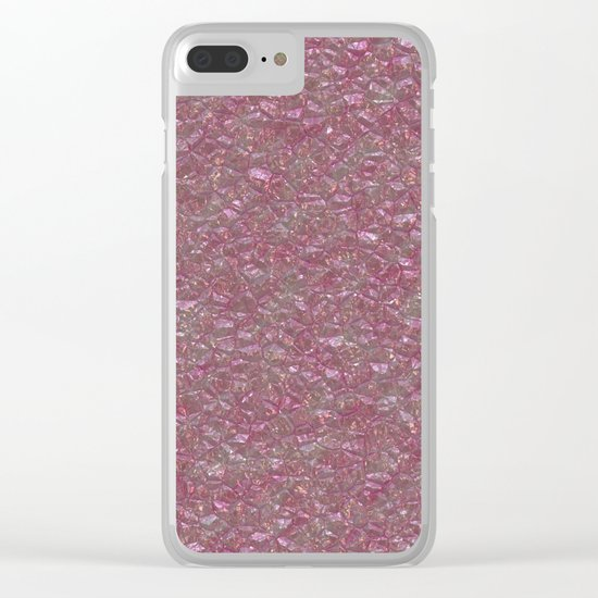 Crystal Pink Clear iPhone Case