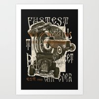 hotrod t-shirt Art Print