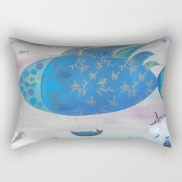 Flying Fish in Sea of Clouds with Sleeping Child Rectangular Pillow