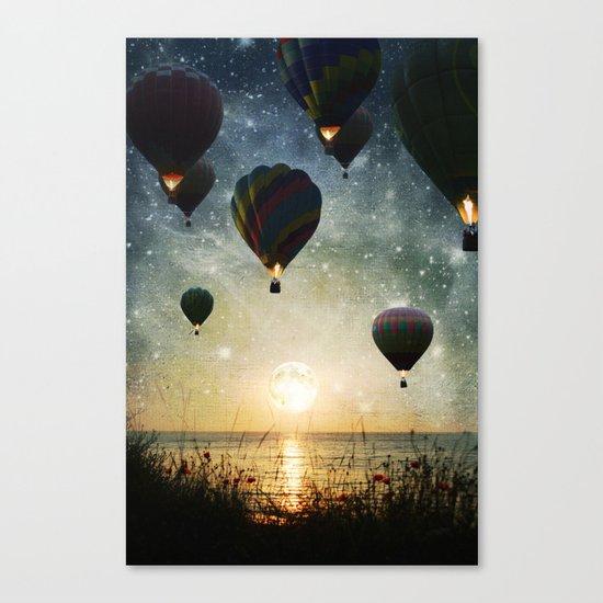 Lighting the night Canvas Print