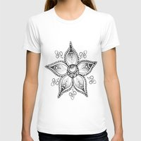 henna T-shirts featuring Henna Flower by Ava Elise
