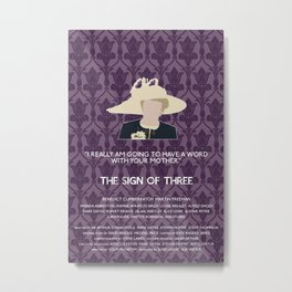 The Sign of Three - Mrs. Hudson Metal Print