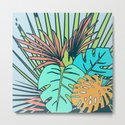 Tropical leaves blue by susycosta