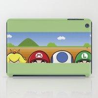 mario bros iPad Cases featuring Mario Bros by Bazingfy