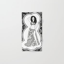 Henna Dancer  Hand & Bath Towel