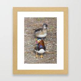 Mr and Mrs Framed Art Print