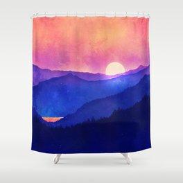 Cobalt Mountains Shower Curtain
