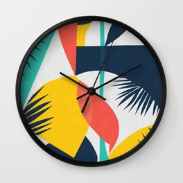 Abstract and geometric 16 Wall Clock