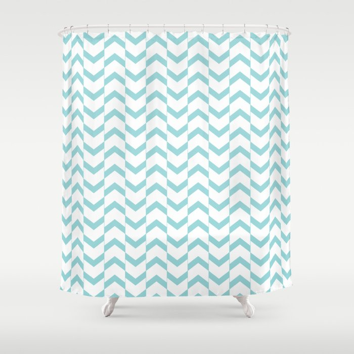 Limpet Shell Chevron Shower Curtain By Marilenaxiari