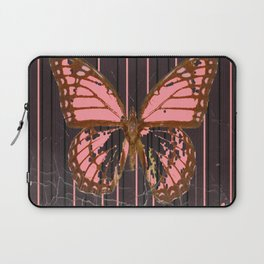ANTIQUE GRUBY PINK BUTTERFLY ART Laptop Sleeve