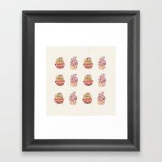 cake pattern Framed Art Print
