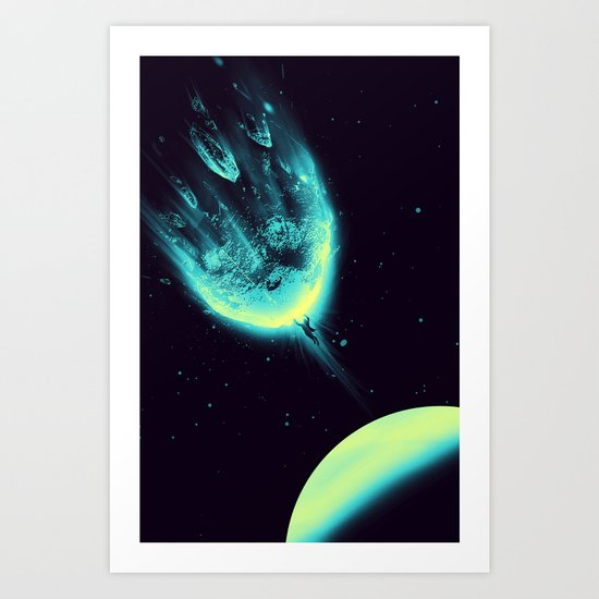 There Is No Planet to Save Art Print