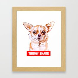 Throw Shade by BNVDO Framed Art Print