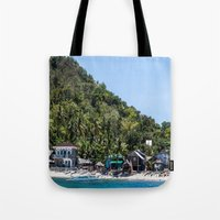 philippines Tote Bags featuring Apo Island Philippines by Jennifer Stinson