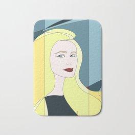 Euphoria Jaune Blonde Woman Hair Abstract Portrait Bath Mat