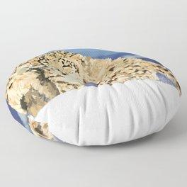 Snow leopards Floor Pillow