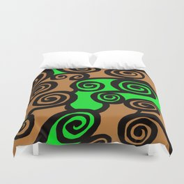 Coils Abstract Duvet Cover