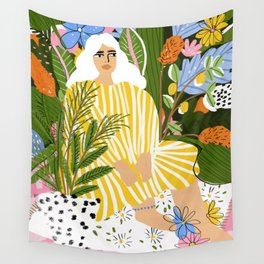 The Jungle Lady Wall Tapestry