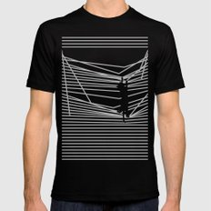 Cats and Curtains Black MEDIUM Mens Fitted Tee