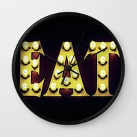 eat Wall Clocks featuring EAT by mingtaphotography