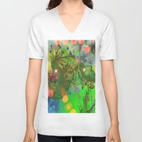 "gemini V-neck T-shirts featuring "" Gemini "" by shiva camille"