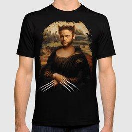 Hugh Jackman Mona Lisa Face Swap T-shirt