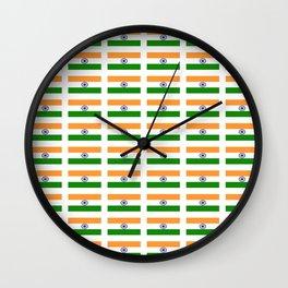 Flag of India 2-indian,mumbai,delhi,hindi,indus,buddhism,hinduism,buddha,gandhi Wall Clock